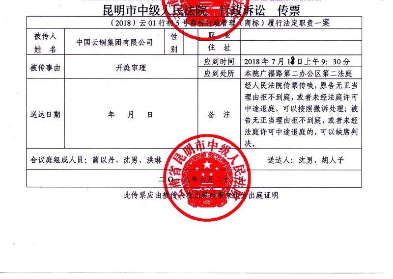 9、中国云铜集团有限公司诉云南省工商局开庭传票.jpg