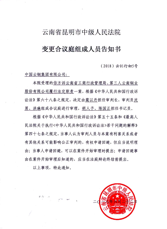8、中国云铜集团有限公司诉云南省工商局变更合议庭告知书.jpg